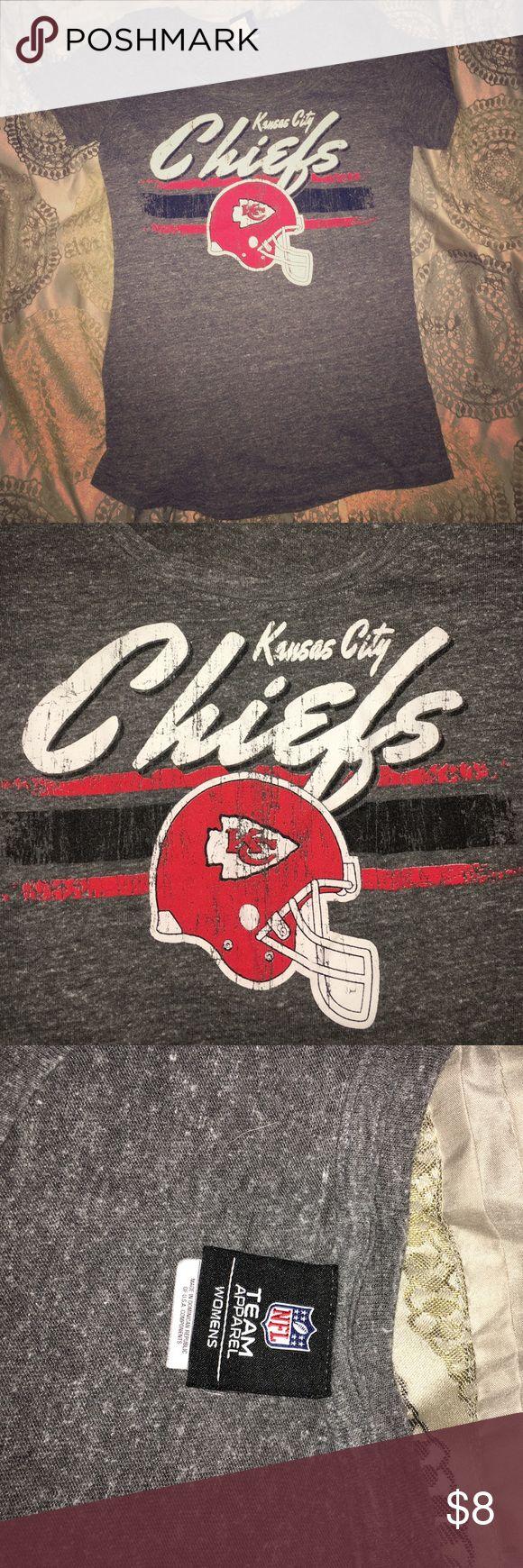 Shirt design kansas city - Gray Short Sleeve Kansas City Chiefs Womens Shirt Medium Gray Short Sleeve Shirt With Kansas City