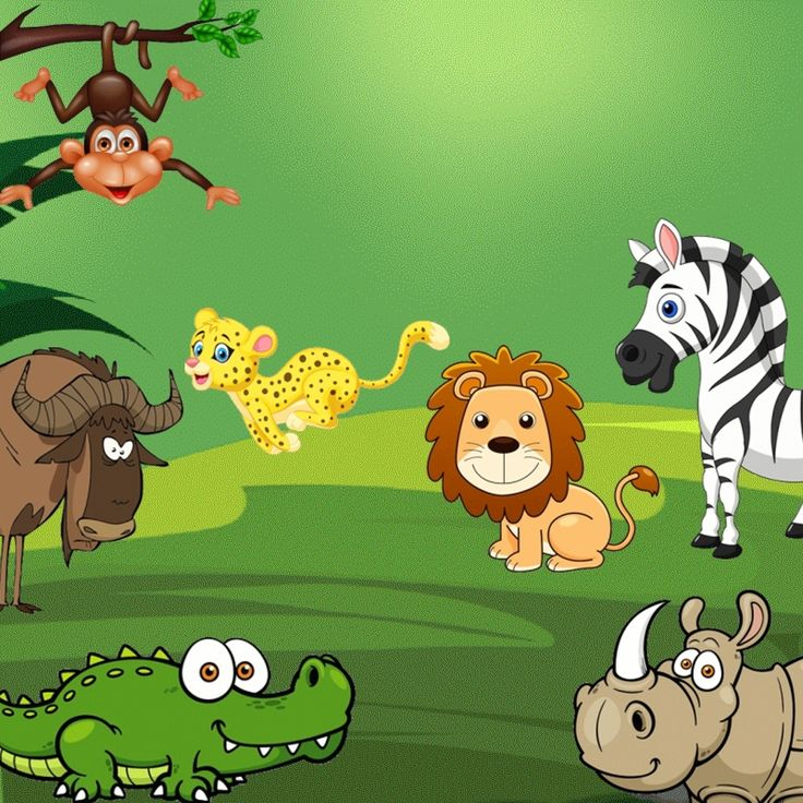 Petits jeux de groupe sur le thème des animaux de la jungle.