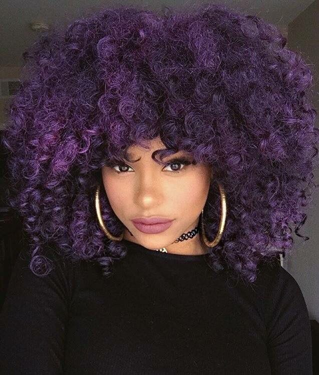 61 Best Dyed Curly Hair Images On Pinterest Natural Hair Braids