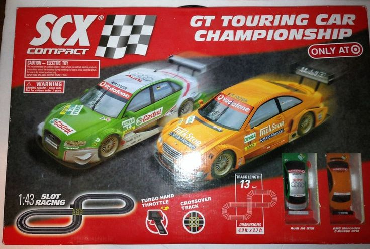 SCX Slot Car Set Target Exclusive 1:43 Scale Used GT Touring Car Championship #SCX