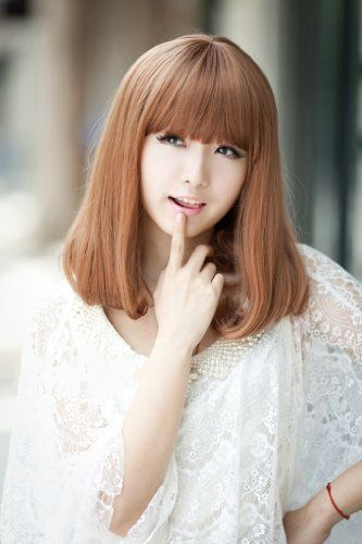 2013 New Ladies' Cute Kanekalon Middle Length Human Hair Wig Wigs K199,  ---See more at http://www.hair-colour-ideas.commissionblast.com