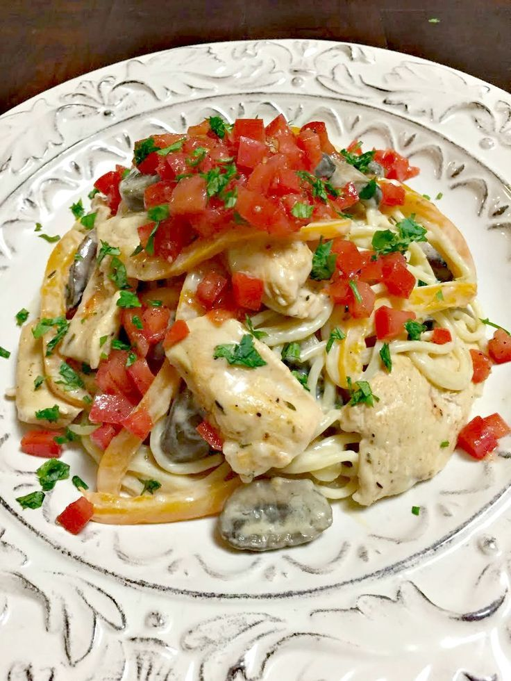 Chicken Vegetable Alfredo Recipe