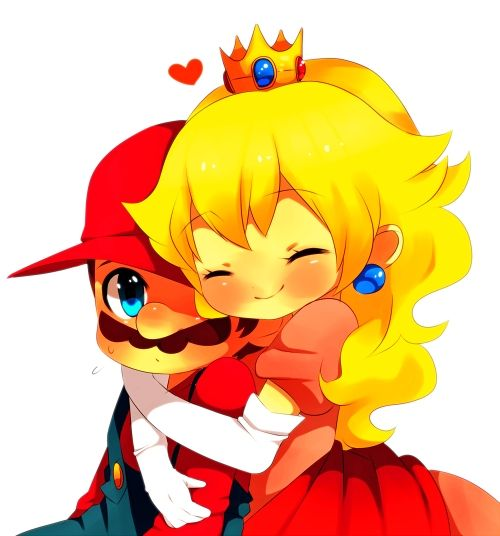 Peach smitten with Mario!