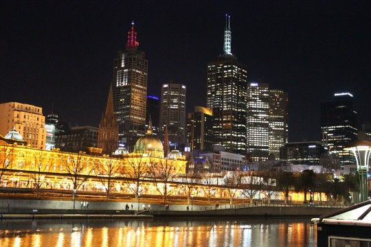 dinner cruise on the Yarra River