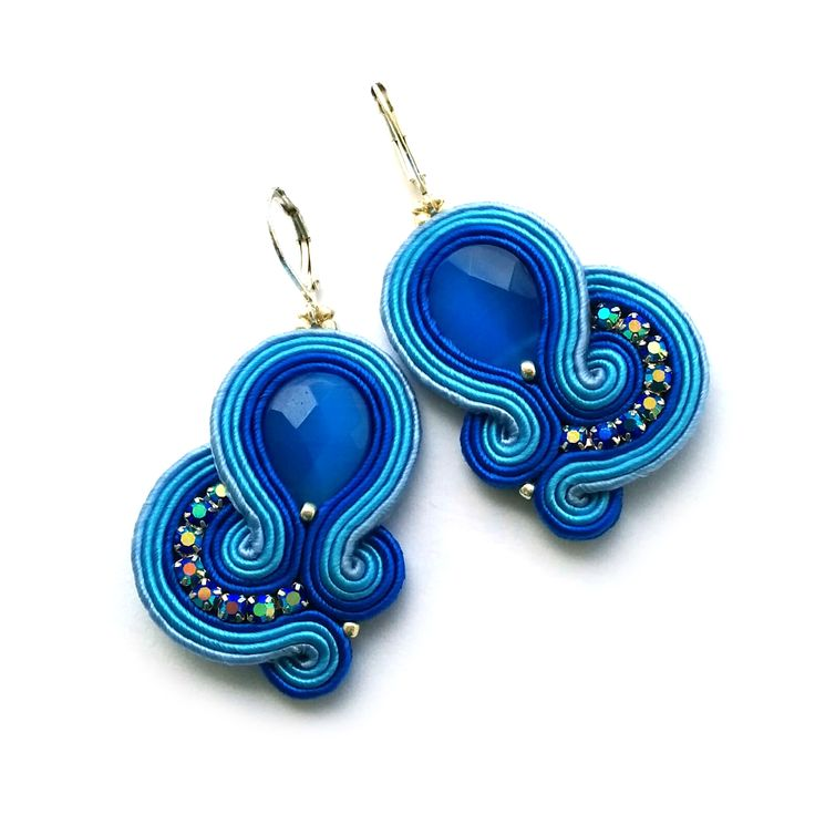 Soutache earrings – Statement earrings | SABO Design