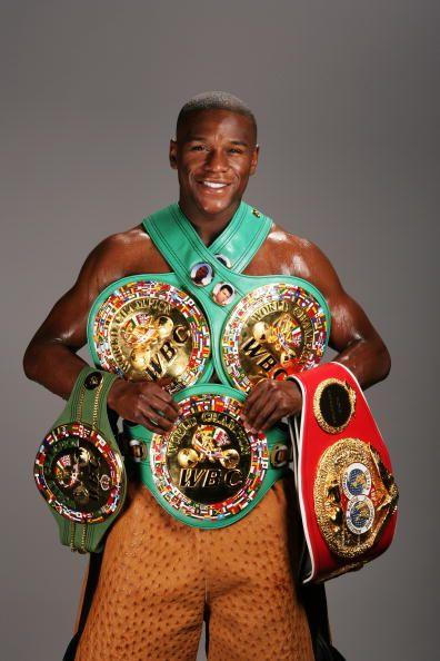 Mayweather WBA Super Welterweight Super Title (2012-present) (2) WBC Super Welterweight Title (2007, 2013-present) (2) WBC Welterweight Title (2006-2008, 2011-present) IBF Welterweight Title (2006) WBC Super Lightweight Title (2005-2006) WBC Lightweight Title (2002-2004) WBC Super Featherweight Title (1998-2002) The Ring Magazine Titles