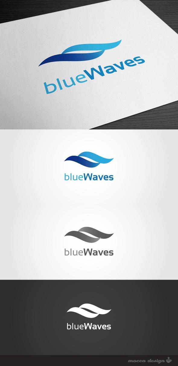 Blue Waves Logo by Mocca Design, via Behance