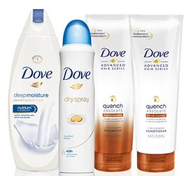 FREE Dove Shampoo and Conditioner and Dry Spray Deodorant - http://freebiefresh.com/free-dove-shampoo-and-conditioner-and-dry-spray-deodorant/