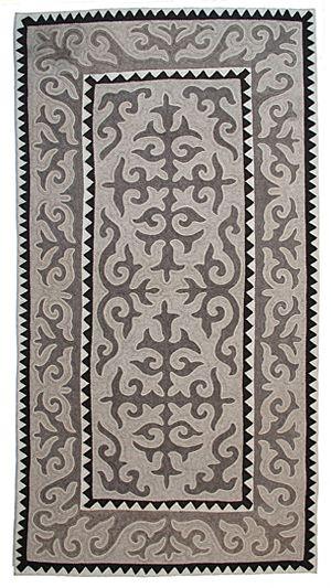 No. 1811, 1.6m x 3.15m, 2011 - unique Shyrdak felt rug