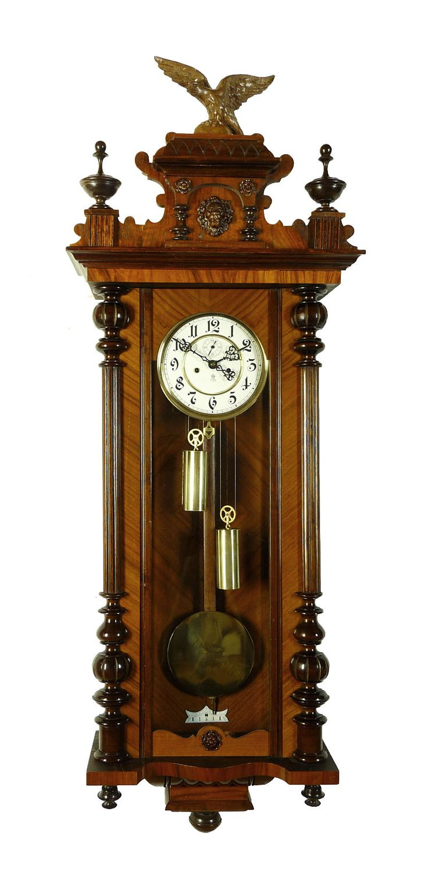 Beautiful Antique Clocks | ... about Beautiful Antique Gustav Becker 2 weight wall clock at 1900