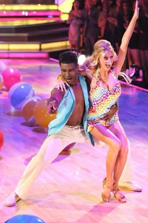 "Dancing With the Stars - Keo Motsepe & Charlotte McKinney cha-cha'd to Katy Perry & Snoop Dogg's ""California Gurls"" - Season 20 - Week-2 - spring 2015 - score - 7+6+7+6 = 26"