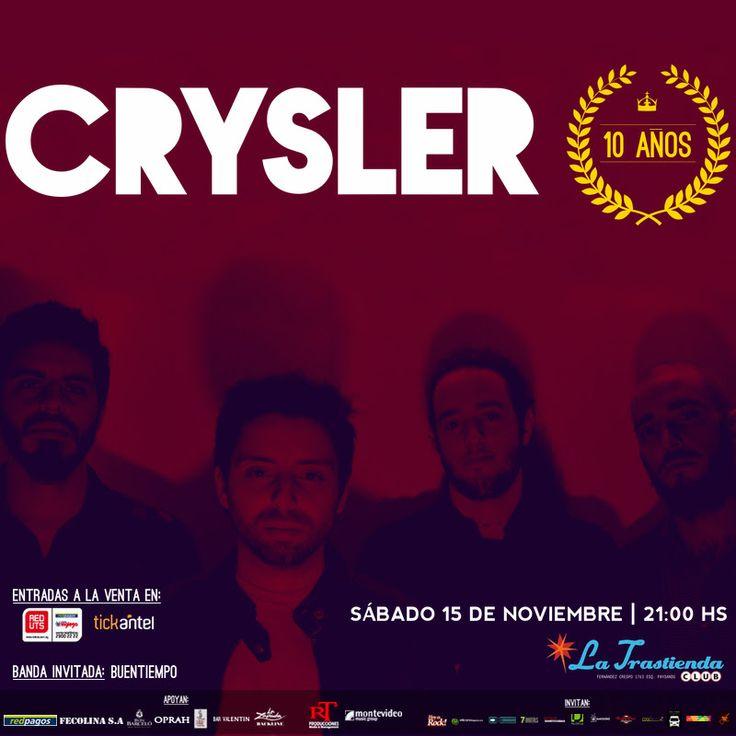 CRYSLER CUMPLE 10 AÑOS Y LO FESTEJA EN LA TRASTIENDA CLUB MONTEVIDEO