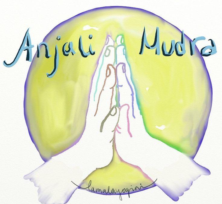 "Anjali ""prayer"" mudra (hand posture) is a centering pose ..."
