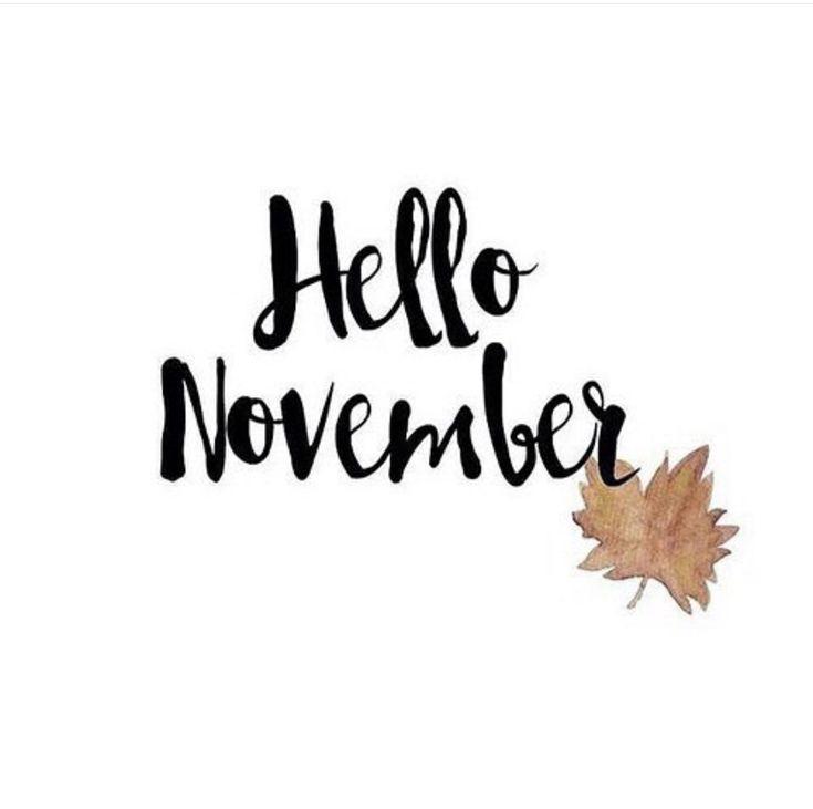 Картинки с надписью ноябрь на английском, друзей