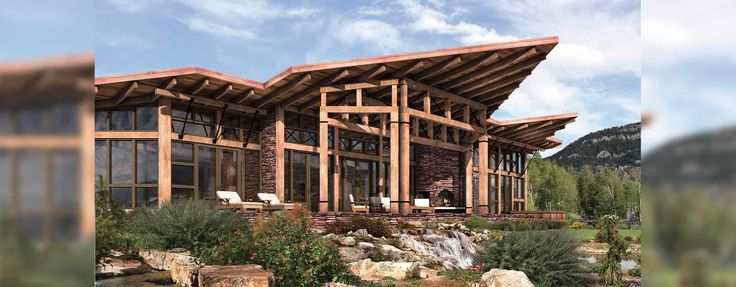 15 best images about modern mountain homes on pinterest for Contemporary timber frame home plans