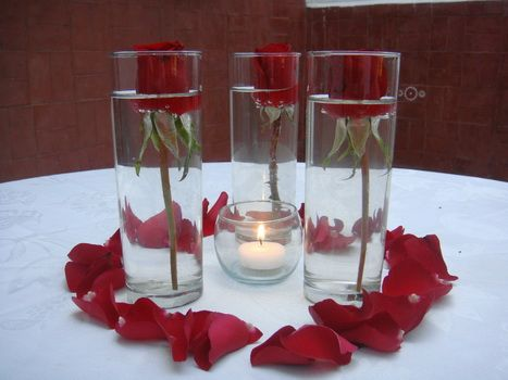 10- Centro de mesa romantico