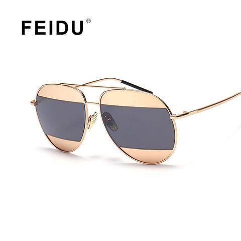 FEIDU 2016 New Fashion Sunglasses Women Brand Design Vintage Metal Frame Sun glasses Ladies Women Gafas Oculos De Sol Feminino
