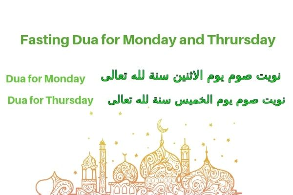 Dua Niyyat For Fasting On Monday And Thursday 2019 Prayer Images Strong Faith Learn Islam