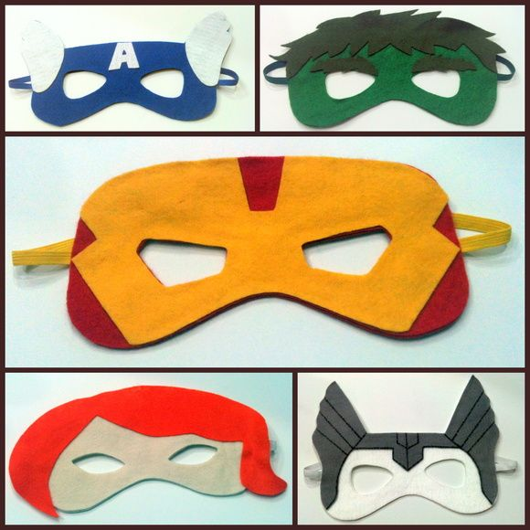 Máscara de feltro R$ 12,00 cada    Podemos desenvolver qualquer personagem R$ 12,00
