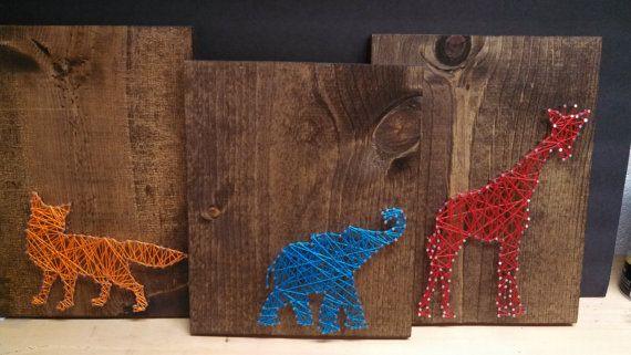 Animal string art on Etsy, $25.00 | String art | Pinterest | String art, Art and Animals