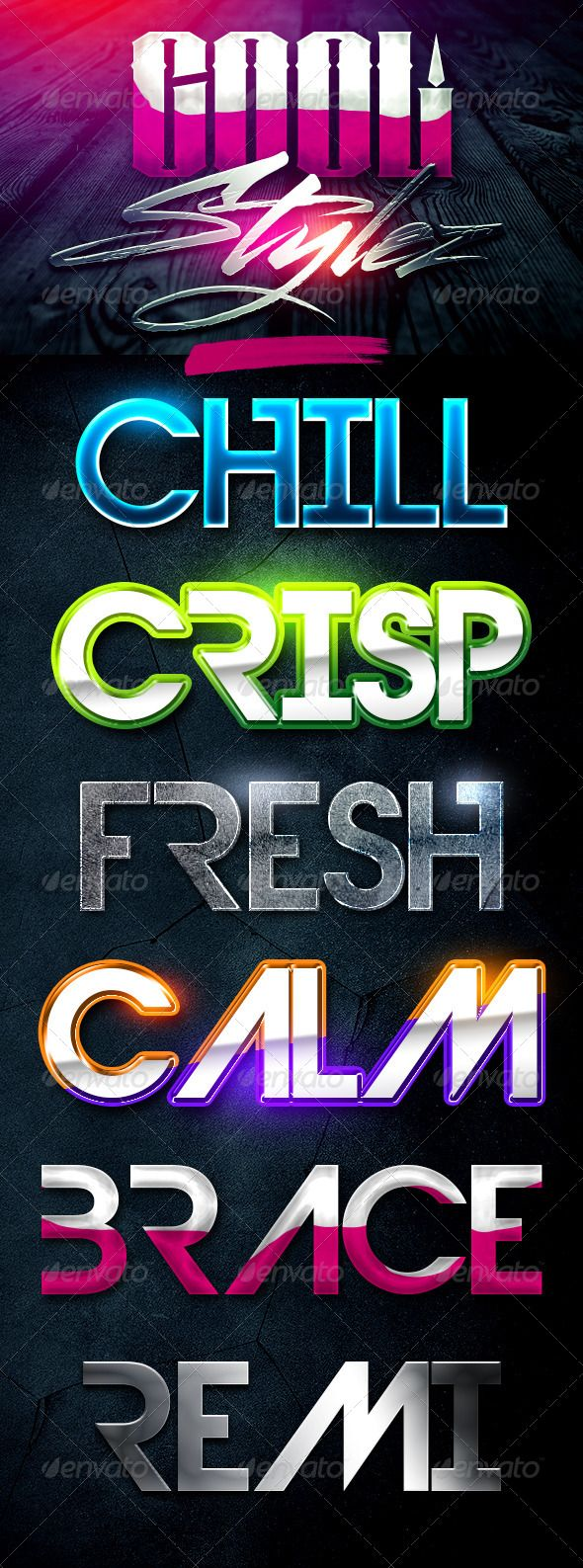 Cool Stylez Varied Photoshop Layer Styles