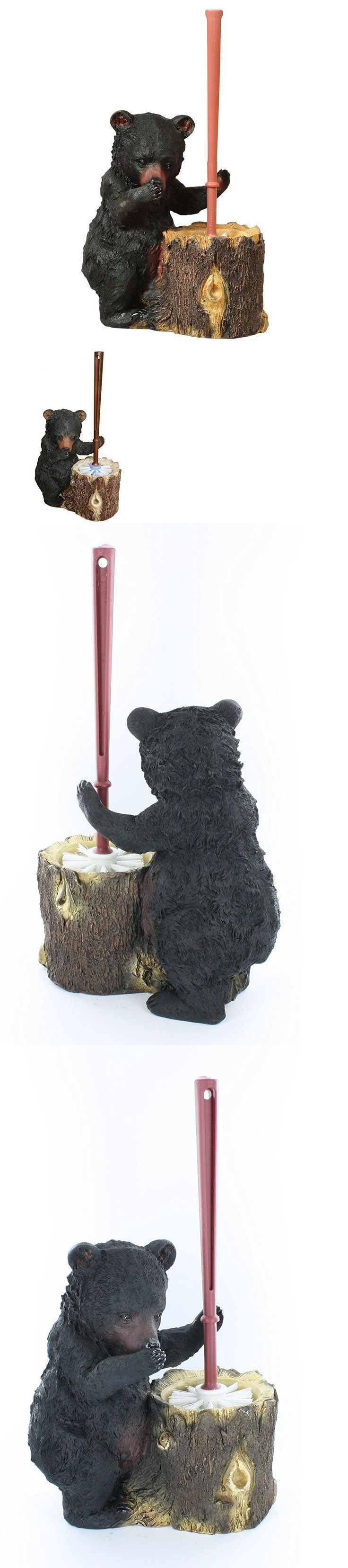 Toilet Brushes and Sets 66723: Stinky Bear Resin Toilet Brush And Holder - Rustic Lodge Decor -> BUY IT NOW ONLY: $35 on eBay!