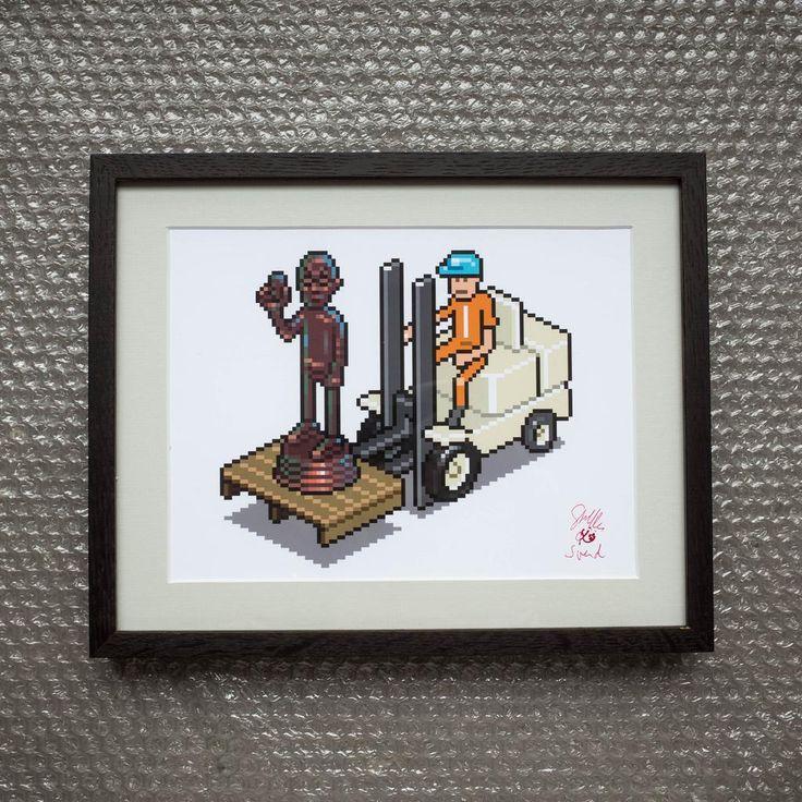 Forklift Steve Art Print