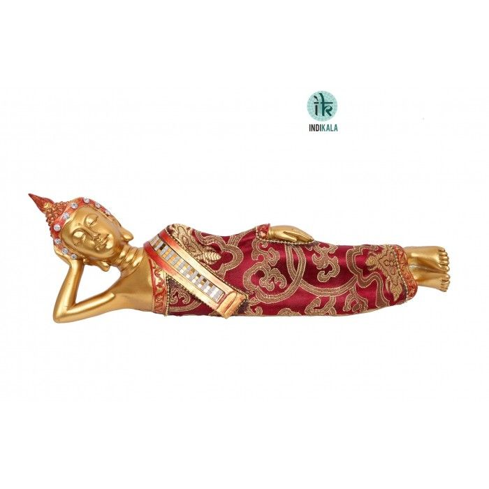 Name : Reclining Buddha Price : Rs 1,499 Buy Now at : http://www.indikala.com/new-additions/reclining-buddha.html #Antiques #Idols #Figurines #Decor