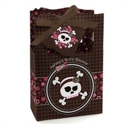 Skullicious - Baby Girl Skull - Classic Personalized Baby Shower Favor Boxes