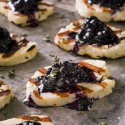 Grilled Halloumi Cheese with Blueberry-Balsamic Jam - EatingWell.com