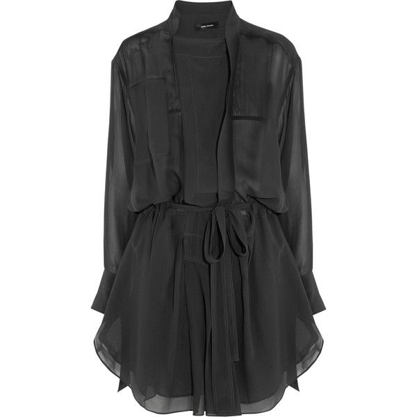Isabel Marant Carla silk-georgette mini dress found on Polyvore