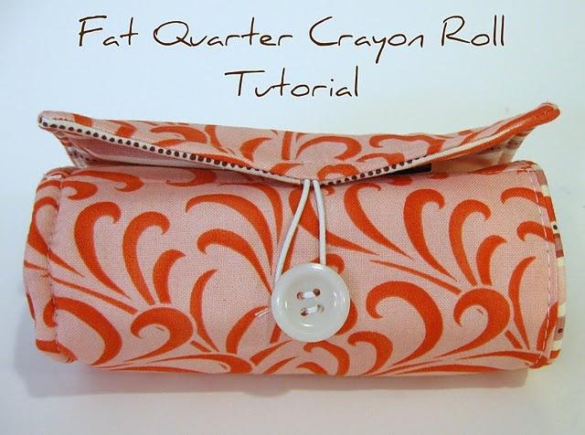Tutorial - Fat Quart crayon roll