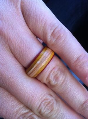 Ring made from old skateboard ( mapple ply )