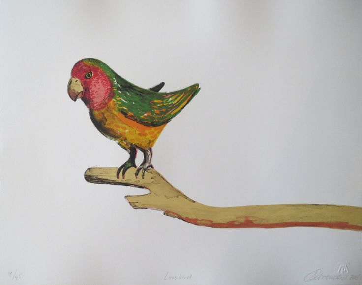 'Love Bird' by South African artist Claudette Schreuders. via Kalk Bay Modern