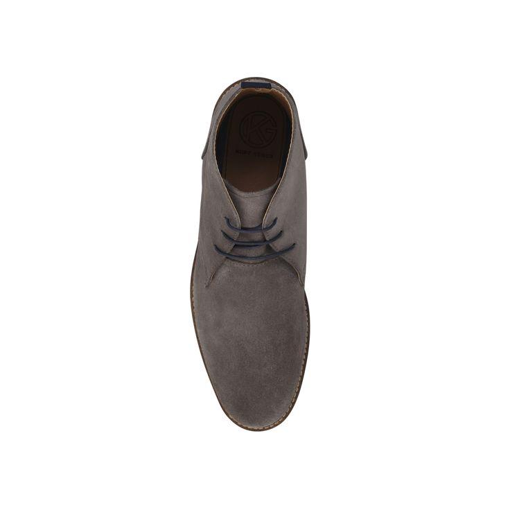KINTORE KG Kurt Geiger Kintore Grey Suede Flat Desert Boots by KG KURT GEIGER