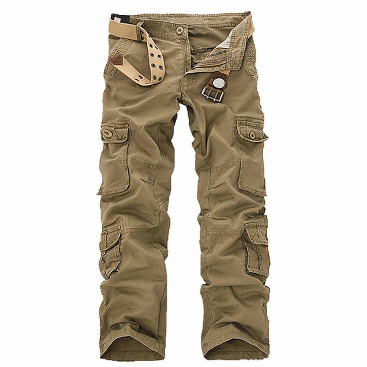 New Casual Men's Pants Military Army Camo Combat Work Trousers Khaki 30