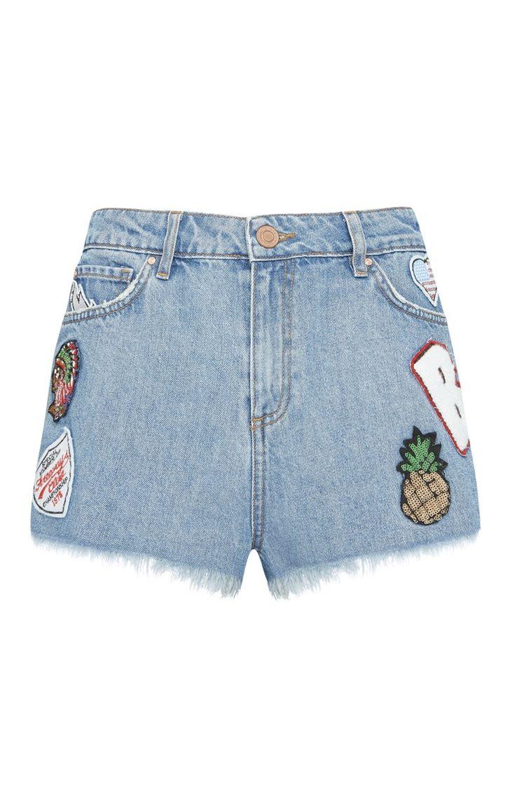 Primark - Shorts in denim con applicazioni
