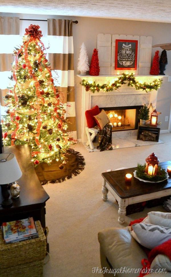 Top Indoor Christmas Decorations On Pinterest Christmas Christmas Decorations Apartment Christmas Apartment Indoor Christmas Decorations