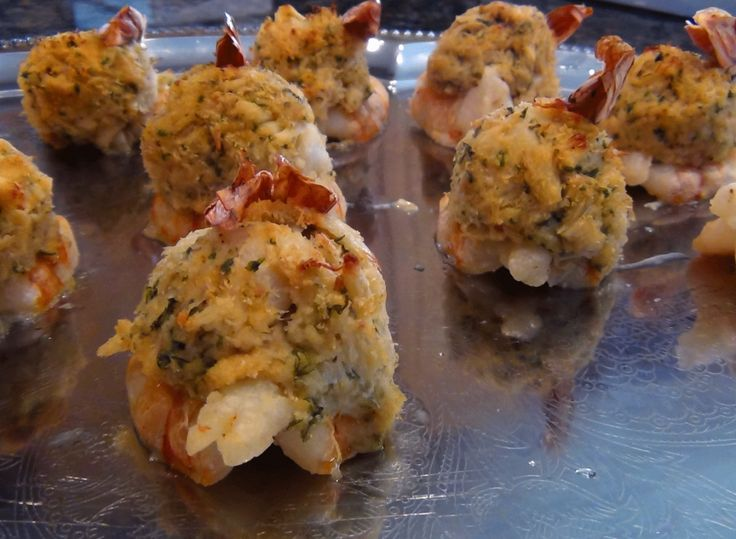 Best 25 stuffed shrimp ideas on pinterest seafood bread for Stuffed fish with crab meat