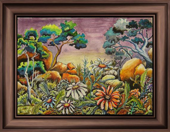 Art Print 'Bush Flowers' by tervern on Etsy, $30.00