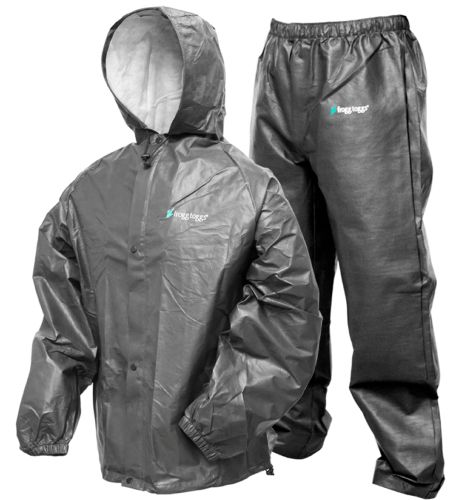 Jacket and Pants Sets 179981: Frogg Toggs Pro Lite Rain Suit | Carbon Black | Md Lg -> BUY IT NOW ONLY: $35.95 on eBay!