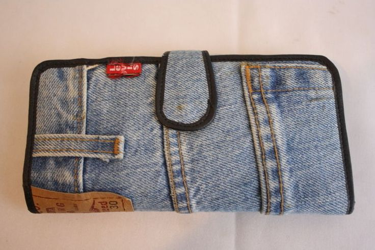 Womens Levis 560 Jeans Folded Jean Wallet w Credit Card Organizer Coin    #Levis560 #FoldCheckbookandCardHolder