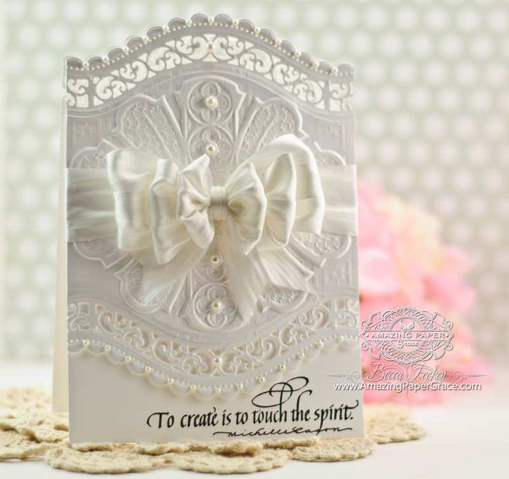 Amazing Card Making Ideas Using Dies Part - 5: Card Making Idea By Becca Feeken Using Quietfire Design And Spellbinders  Roman Romance With A2 Curved