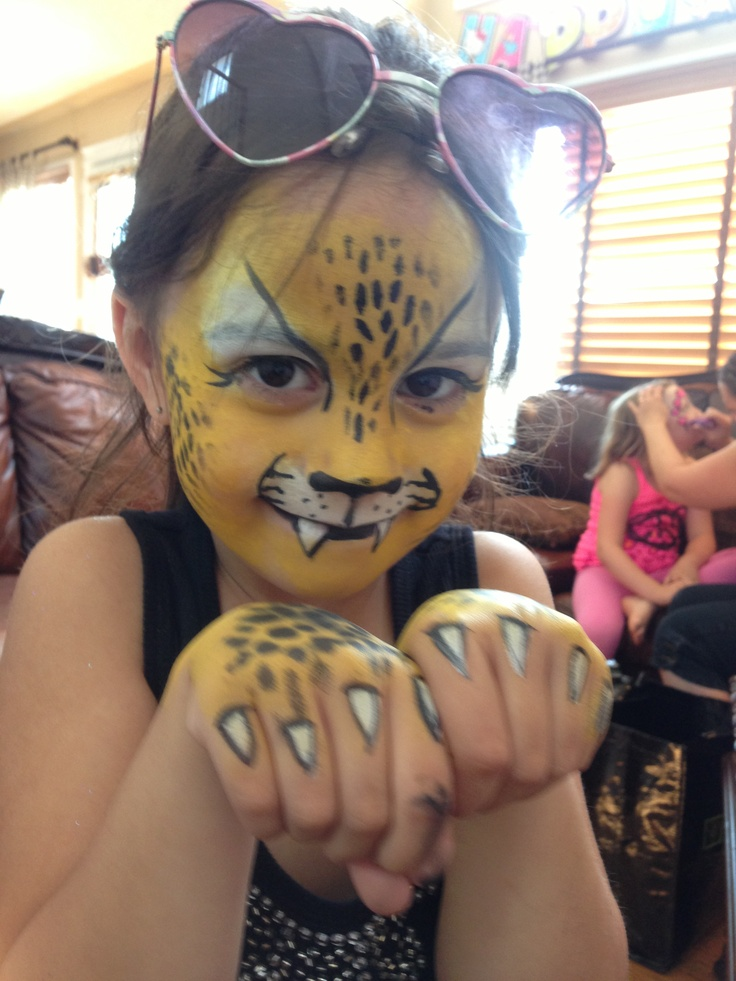 Easy cheetah face paint for kids - photo#15