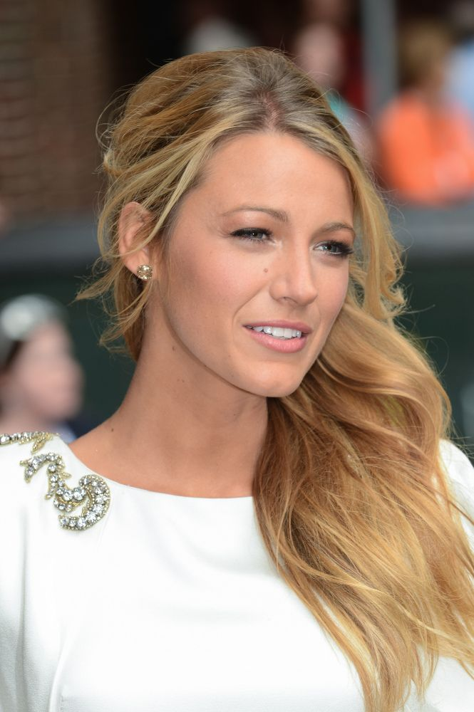 Blake Lively - golden blonde hair. Love her want to dye my hair this color or darker