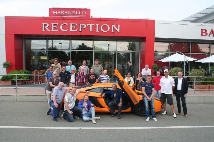 Bezoek aan Ferrari Maranello bij Maranello village - DD Autoreizen Dolomieten 2013