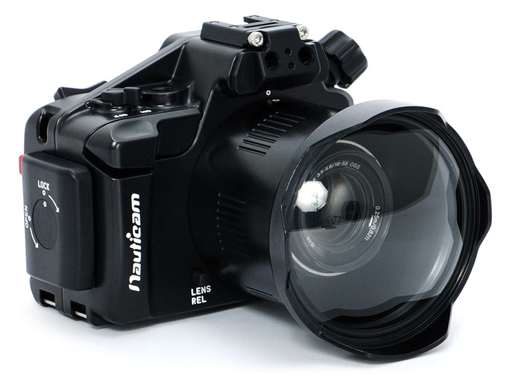 Nauticam NEX5N Underwater Housing for Sony NEX-5N mirrorless, interchangeable-lens camera.