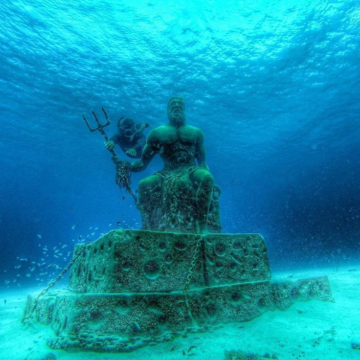 Poseidon Statue in West View, San Andres Island, Colombia
