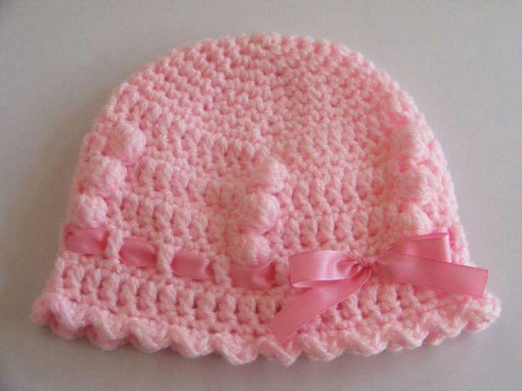 Patrones ganchillo ropa bebé - Gorro ganchillo bebé