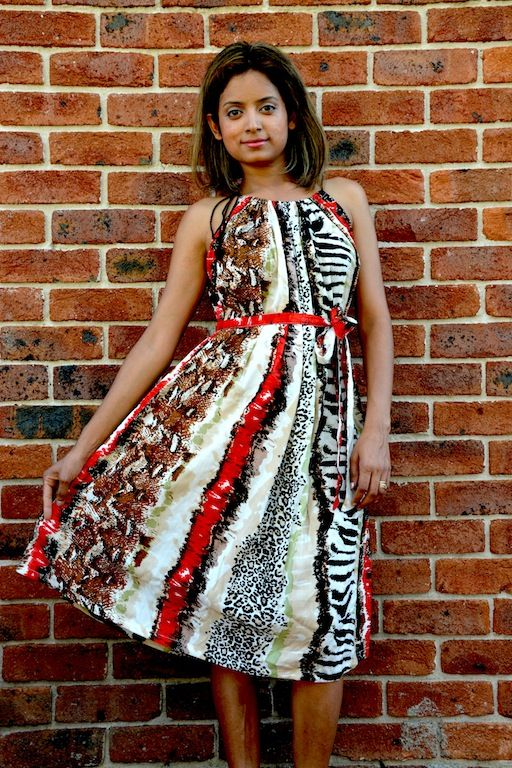 Different take on animal print dress!
